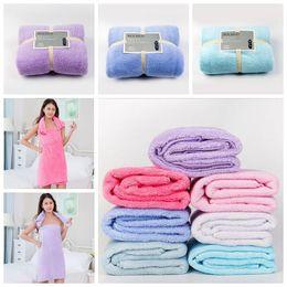 Wholesale Fleece Textiles - 75*150cm Soft Bath Towels Coral Fleece Towels Of Strong Water Imbibition Bath Sheets Absorbent Shower Towel Home Textiles CCA6537 100pcs