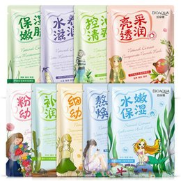 Wholesale Whitening Beauty Products - 100pcs New Facial Mask Face Mask Crystal Collagen Facial Masks Moisturizing Anti-aging beauty products sheet mask