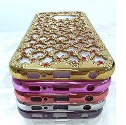 Wholesale Wholesale Jackets Products - 2016 new products new lace hollow diamond plating TPU mobile PHONE jacket CASE without a shell
