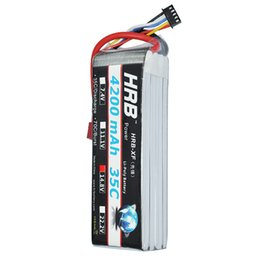 Wholesale Max Helicopter Rc - HRB RC Lipo Battery 14.8V 4200MAH 4S 35C max 70C Bateria Lipo akku For Helicopter Airpalane Boat Remote Control car