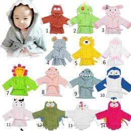 Wholesale Children Terry Bathrobes - boy girl Animal Baby bathrobe baby hooded bath towel kids bath terry children infant bathing baby robe GLADBABY