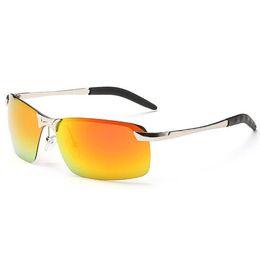 Wholesale Black Car Scratches - 2017 Men's Polarized Sunglasses Aluminum Magnesium Frame Car Driving Sun Glasses 100% UV400 Polarised Goggle Style Eyewear