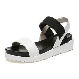 Wholesale Open Toe Sandals Ladies - 2017 New shoes Summer sandals women peep-toe sandalias flat Shoes Roman sandals shoes woman mujer Ladies Flip Flops Footwear 810