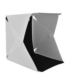 Wholesale Tv Shipping Kit - YOSOO Portable Foldable Mini Studio Photography Light Box Tent Kit 22.6*23*24cm with 4 Colors Backgrounds Free Shipping