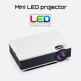 Wholesale Mini Hd External - Wholesale- Smart Airplay Miracast WIFI External Support HD Home Theater LCD Portable HDMI USB Video Game LED Mini Projector For phone pad