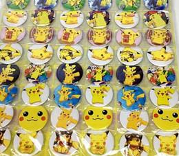 Japão anime roupas on-line-Novo Dos Desenhos Animados 48 pçs / set Japonês Anime Emblemas Pin, Rodada Broche Crachá Crianças Acessórios de Vestuário 4.5 cm A - 35