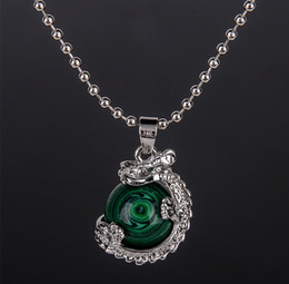 Wholesale crystal dragon jewelry - Pendants Necklaces Gem Personality Dragon Crystal Pendant Spherical Panlong of Original Rock of Natural Agate Necklace Stone Jewelry