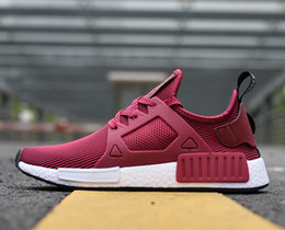 Wholesale Womens Winter Sneaker Boots - New Originals NMD XR1 Primeknit Wine Red Mens Womens nmd Sneakers Running Shoes Boost Size 36-44