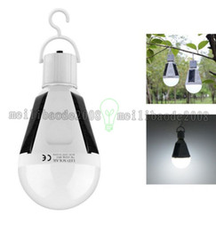 Wholesale E27 Panel - NEW Camping Rotatable Powered Panel,camp portable power Solar led light Tent Bulb garden hanging outdoor lamp 7W 12W waterproof IP65 E27 MYY