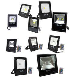 Reflector led rgb online-Iluminación exterior RGB 10W RGB Led reflectores IP65 Impermeable Led luz de inundación Paisaje Lámpara de pared AC 85-265V