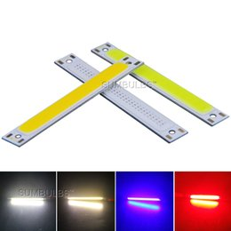 Wholesale Lamp 3v - 60x8mm 1W 3W COB LED Light Source DC 3V 4V Lamp Chip On Board Battery Powered DIY Bulb Warm Pure White Blue Red