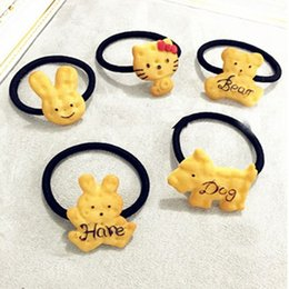 Wholesale Hairclip Hairpin - 1PC 2017 Scrunchy Girls Kids Cute Biscuit Cartoon Shape Hair Clips Headbands Hairpins Hairclip multistyles Hair Accessories