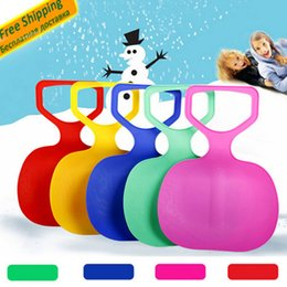 Wholesale Snow Ski Board - Wholesale- Sports Skiing Pad Sled Board For Kids Adult Children Winter Thicken Plastic sand Grass Sledge Snow luge Outdoor equipment