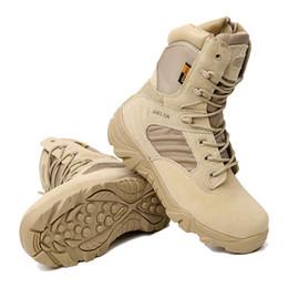 Argentina Invierno de los hombres al aire libre caliente del cuero genuino del ejército del desierto táctico botas cortas hombres de camuflaje botas de combate Botas Hombre Deportes Suministro