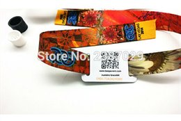 Wholesale Wholesale Wristbands For Events - Wholesale- passive customzied printing fashion T5577 fabric adjustable rfid woven wristband for festival events