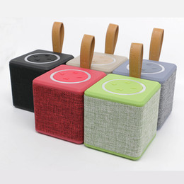 Wholesale Wholesale Audio Horns - NR-1016 Wireless Bluetooth Portable Mini Speaker Subwoofers Music Player 5W Horn Best Cloth Net TF FM USB for iPhone 6 Samsung Tablet PC
