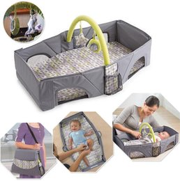 Wholesale Baby Portable Crib Bedding - Portable Baby Travel Bed Crib Outdoor Folding Bed Travel Baby Diaper Bag Infant Safety Bag Cradles Bed Baby Crib Safety Mommy Bag KKA2477
