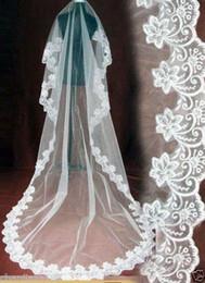 Canada Nouveau 1 couche CATHEDRAL LONGUEUR MARIAGE VEIL Accessoires de mariée BLANCHE IVOIRE LACE BORDURE MARIÉE MANTILLA 2018 Offre