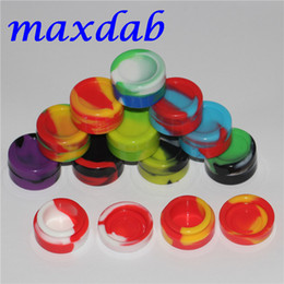 Wholesale Food Storage Jars Wholesale - Nonstick Wax Containers silicone box 5ml Silicon container Non-stick food grade wax jars dab storage jar oil holder for vaporizer vape