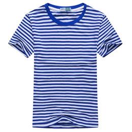 T-shirt à manches courtes à rayures pour hommes d'été de mode 2018 New Casual O-cou Marin Tops Marine T-Shirt Livraison gratuite ? partir de fabricateur