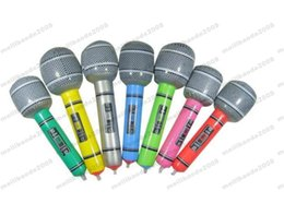 Wholesale Inflatable Microphone Toys - New Hot Inflatable Microphone Blow Up Singing Party Time Star Disco Toy Children Gift Party Supplies free shipping MYY