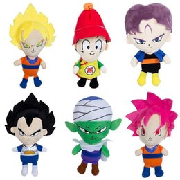 Wholesale Dragon Stuffed Doll - 22cm DRAGON BALL Plush Dolls Sun Wukong Vegeta Trunks Keychain Stuffe Plush Toys Stuffed Animals Kids Toys Christmas Promotional Gift