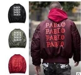 Wholesale Life Like - Yeezus Men Jackets I feel like Paul Pablo Kanye West The Life Of Pablo Kanye MA1 Bomber Jackets Brand Thick Warm Bombers Coats