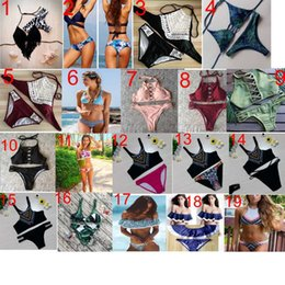 Wholesale Ladies Sexy Bikinis - 83 style 2017 new arrivals fashion hot sale sexy leaf of japanese banana print Triangle one piece Swimsuit lady sexy Swimsuit elegant Bikini