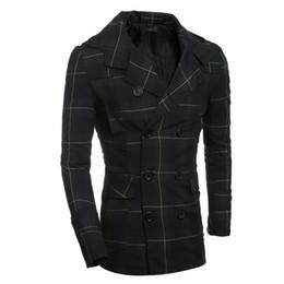 Wholesale Trench Coat Long Men Xxl - Wholesale- 2016 Brand Winter men windbreaker fashion woolen coat winter jacket trench coat outerwear Double breasted Plus size XXL