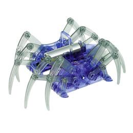 Wholesale Diy Spider Robot - Wholesale-DIY Assemble Intelligent Electric Spider Robot Toy Educational DIY Kit Hot Selling