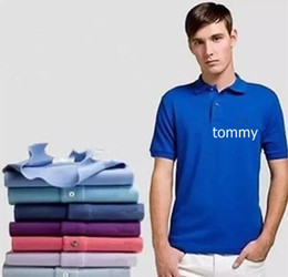 Wholesale Logos Clothes - Big Size S-6XL Embroidery LOGO Men Polo Solid Stand Collar Short Sleeves Polos Lion Cotton Pique Tops Summer Mens Clothing Brand Camiseta