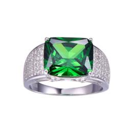 JQUEEN 9,5 ct Emerald Cut 925 solide bague en argent Sterling de haute qualité Nano russe Emerald Rings femmes Fashion Classic Set ? partir de fabricateur