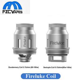 Wholesale Dhl Free E Cigarette - Authentic Freemax Fireluke Coil Heads E Cigarette Vape Cores Daul Coil Sextuple Duodenary Core DHL Free 100% Original