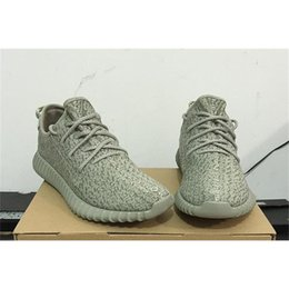 Wholesale Real Dive - 2017 Brand Kanye West Real Boost 350 Moonrock Oxford Tan 350 Boost Turtle Dove Grey Classic Version Supply With Box