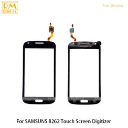 Wholesale Galaxy I8262 - 5pcs lot For Samsung Galaxy Core i8260 i8262 Duos GT 8262 8260 Front Panel Touch Screen Sensor Digitizer Front Glass Lens Panel Accessories
