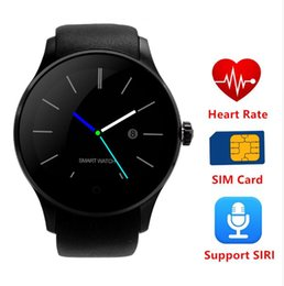 Wholesale Heart Rate Monitor Gel - K88S Bluetooth Smart Watch support SIM TF Card Smartwatch Silica Gel strap with Heart Rate Monitor for Android IOS pk k88h POST