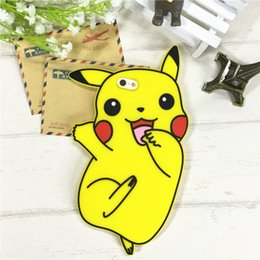 Wholesale Iphone Cases Pikachu - Pikachu Cartoon Rubber Silicon Phone Back Case Cover for iPhone 8 6 6S 7 Plus 6Plus Pocket Monster Pikachu Opp Bag