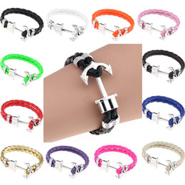 Wholesale Paracord Hooks - Fashion Infinity bracelet Wrap Rope Charm Fish Hook With Paracord Women bracelet Braided bracelets fashion jewelry CA087