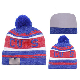 Wholesale Animal Winter Hats For Men - Adult Fitted Beanie Hats Famous American Baseball Sport Team Winter Pom Beanie Hats for Men with Stretch Wool