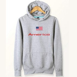 Wholesale Hoodie Stars Stripes - America flag hoodies National USA star and stripes sweat shirts Fleece clothing Pullover coat Outdoor cotton jacket Brushed sweatshirts