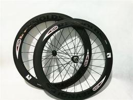 Wholesale Fixed Gear Rear Hub - 23mm Width Bike Wheel 50mm Depth Clincher Carbon 700c Road Bike Wheelset Powerway R36 hubs 20 24H