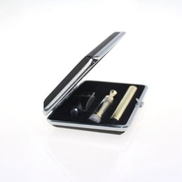 Wholesale Wholesale Rectangle Gift Boxes - Golden glass cartridge Vaporizer Rectangle Gift box Kit bud touch 280mAh battery O pen Cartridge Vapor WAX thick Oil tank e cigs