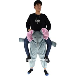 Wholesale Adult Mascot Costume Elephant - The elephant ride on me personalized prosthetic leg mascot costume adult clothing exhibition COS Halloween costume Christmas par