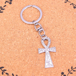 Wholesale Wholesale Metal Trinket - Fashion egyptian ankh life symbol Keychain For Men Trinket Portachiavi Car Keyring Key Chain Ring Chaveiro Jewelry Gift Souvenirs