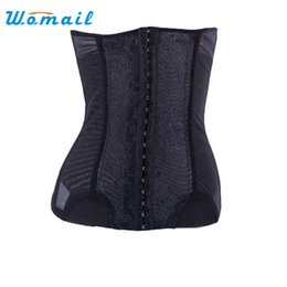 Wholesale Thin Slim Waist Belt - Wholesale- Amazing Women Burning Fat Thin Waist Belt Abdomen Slimming Body Shaping Shaper Black,Skin Size S,M,L,XL,XXL,XXXL