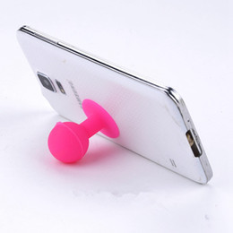 Wholesale Mobile Ball - Phone Holder Stand Colorful Universal Monopod Mobile Phone Silicone Rubber Octopus Sucker Ball Stand Holder mobile phone stand