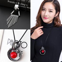 Wholesale Korea Clothe Leather - Wholesale sweater chain length all-match Korea female European winter fashion accessories necklace pendant jewelry clothes