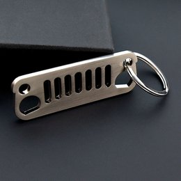 Wholesale Metal Keychain Promotional Gift - Cheap Custom Jeep Grille Key Chain, Promotional gifts Keychain for wholesale, metal souvenir car jeep keychain key ring