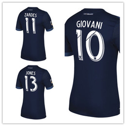 Wholesale Galaxy Uniforms - Whosales Discount New LA Galaxy 2018 Soccer Jersey,La Galaxy Jersey 2017 Custom BECKHAM GIOVANI JONES ZARDES Soccer uniform MLS Jersey Top