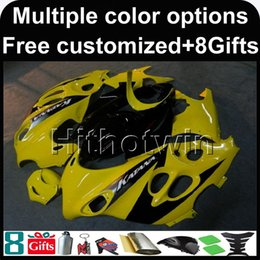 Wholesale Plastic Mold Cover - 23colors+8Gifts YELLOW motorcycle cover for Suzuki GSX600F Katana 2003-2006 GSX600F 03 04 05 06 ABS Plastic Fairing